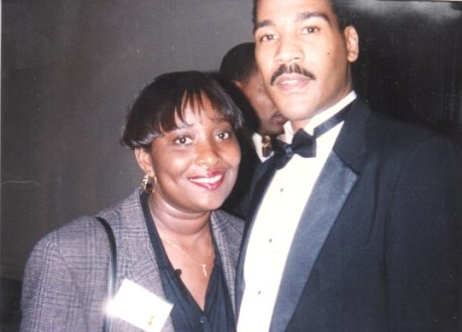 Yolanda Martin and Dexter Scott King