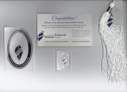 Justice Adams National Technical Honor Society Graduation Tassel, Membership Pin, Window Decal, and Official NTHS Diploma Seal